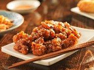 Рецепта Хрупкави панирани пилешки хапки по китайски в пухкава панировка